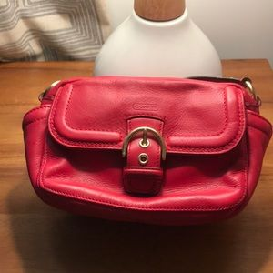 Coach small leather crossbody